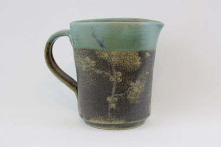 Blossom series jug - (9) 12 x 9 x 13.5 H (excl handle) - Deanna Roberts