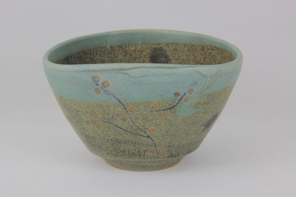 Blossom series - speckled and green (2) 14 x 12 x 8.5cm H - Deanna Roberts