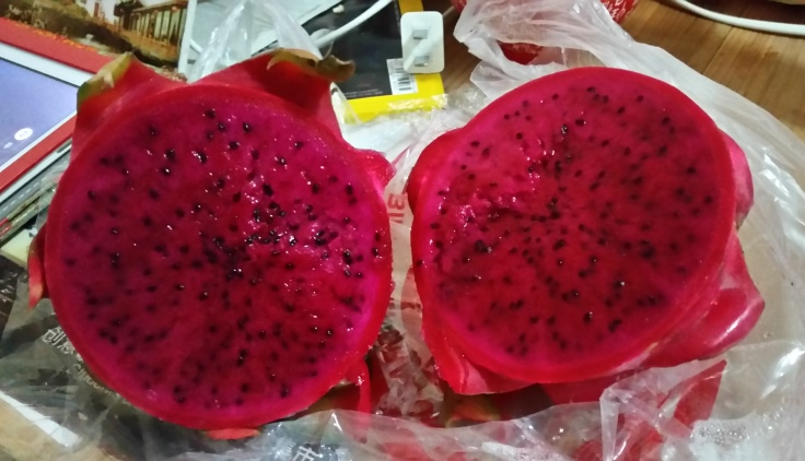 Red dragon fruit - yum (Hóng lóng guǒ) - Deanna Roberts