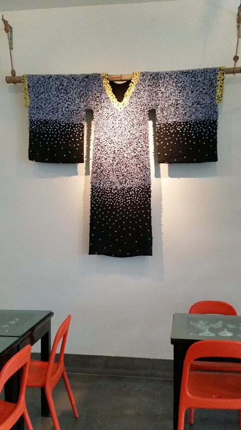 Cafe and butterfly dress - Caroline Cheng