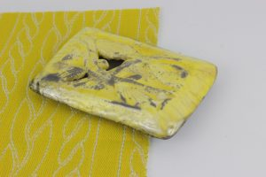 Yellow Raku Pillow