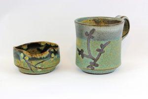 Blossom mug and bowl
