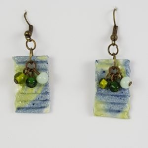 Blue Green Bauble Earrings - Deanna Roberts Studio