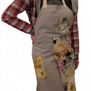 Pottery split-leg apron - Bouquet 1