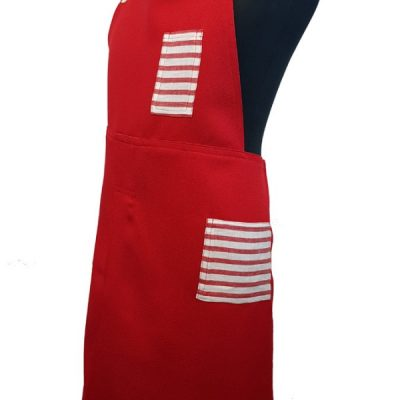 Candy Cane Red 2 - Pottery split-leg apron