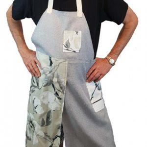 Pottery split-leg apron - Chinese Blossom 1 (2)