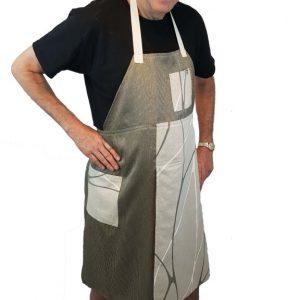 Pottery split-leg apron - Cinnamon Spice (1)