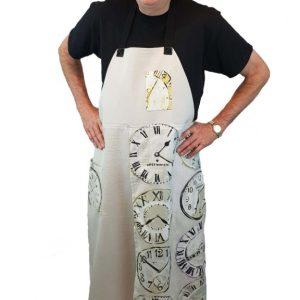 Pottery split-leg apron - Clocks (1)