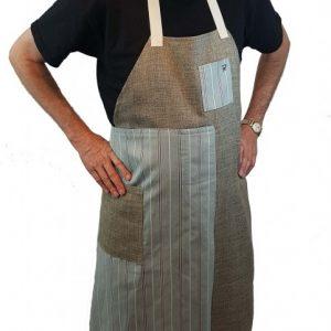 Pottery split-leg apron - Coffee, salt and pepper (1)
