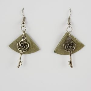 Rose Key earrings - Deanna Roberts Studio