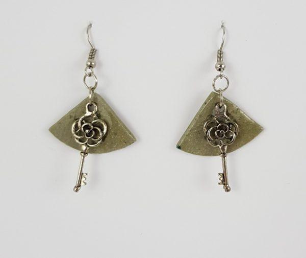 Rose Key earrings - Deanna Roberts Studio