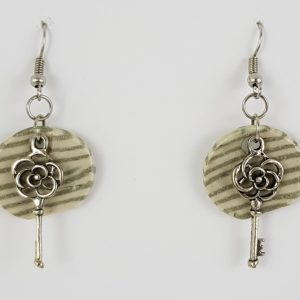 Stripes and Key Earrings - Deanna Roberts Studio