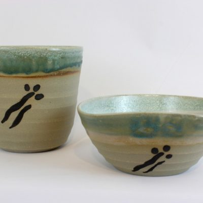 Blossom vase and bowl