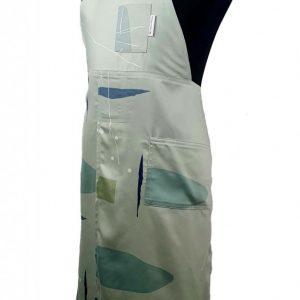 Mint split-leg pottery apron
