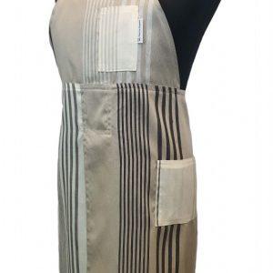 Smart Stripes Split-leg pottery apron