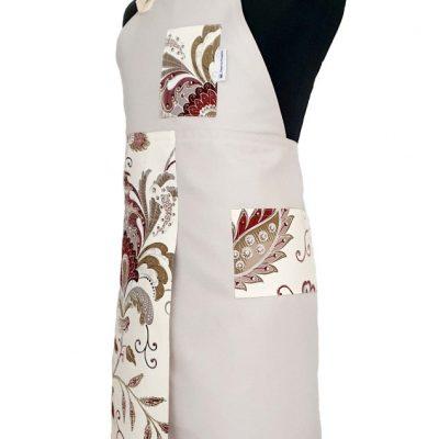 Split-leg apron - Floral Chai