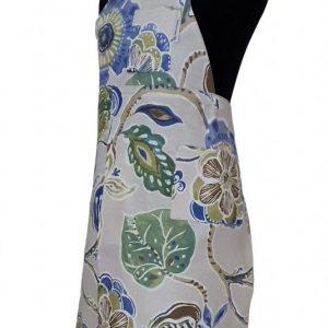 Pottery split-leg apron - Sky Blue Garden