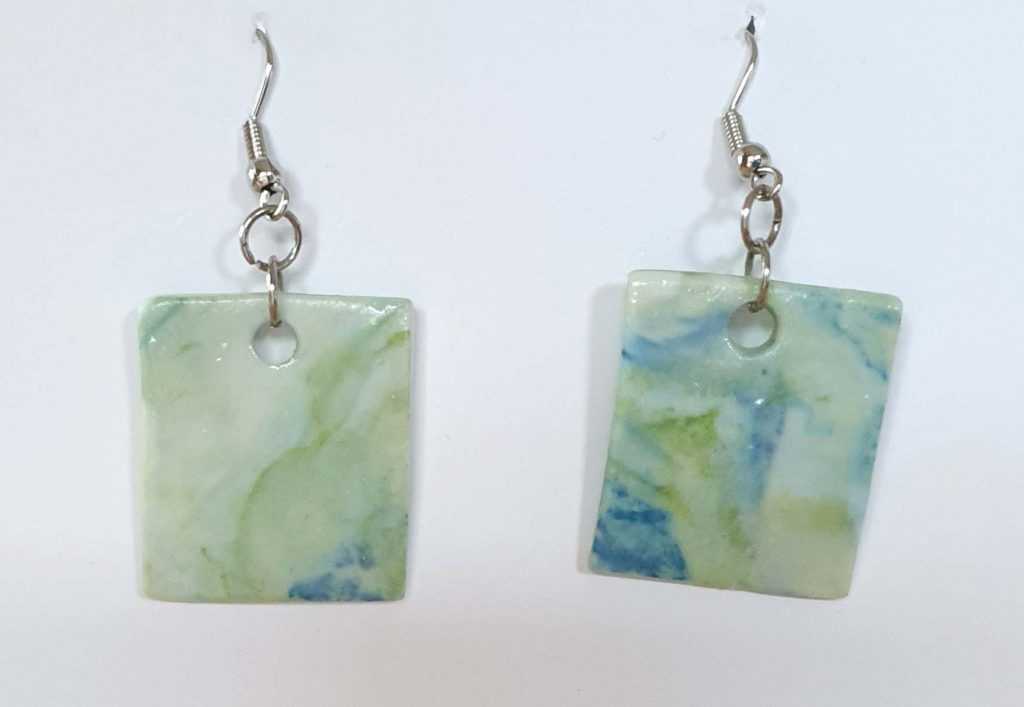 2.5 x 2.3 By the Sea earrings