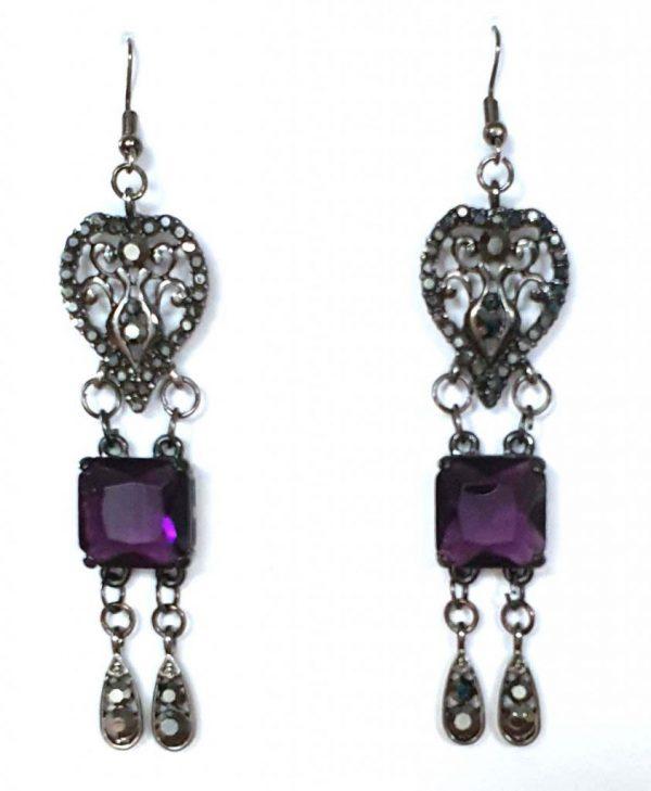 6.5 x 1.7 Glamour earrings