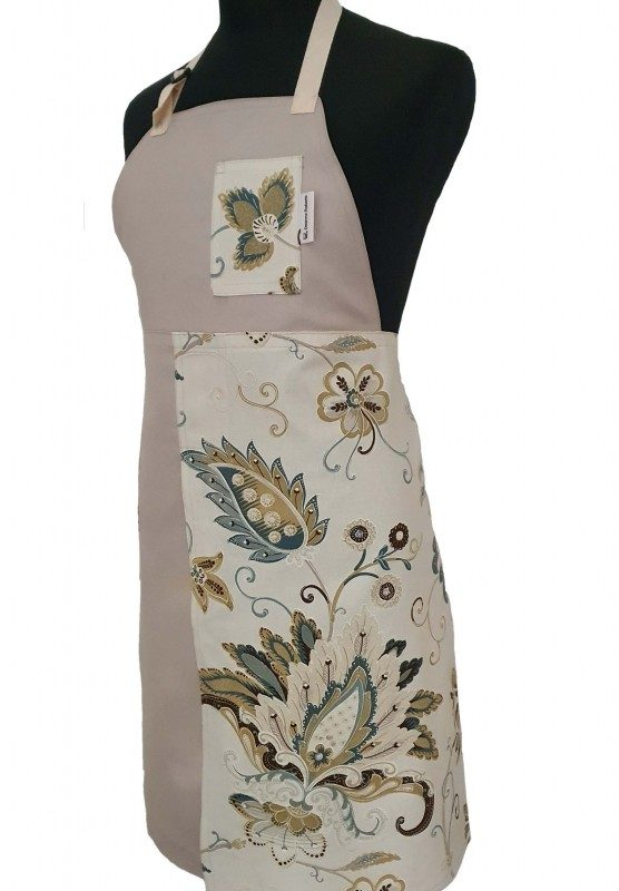 Pottery Split-leg apron - Mint Latte