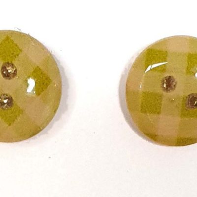 Gingham Green Earrings