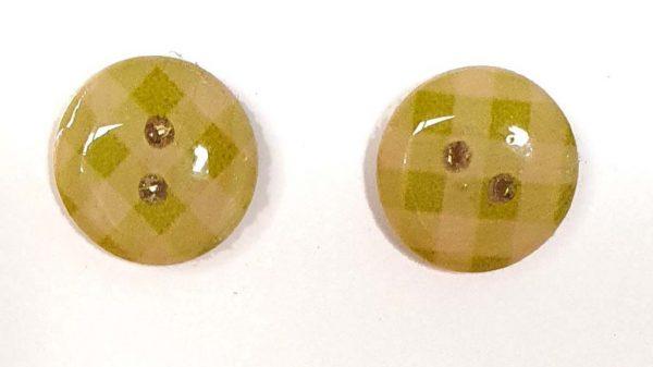 Gingham Green Earrings