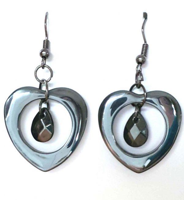 2.3 x 2.5 Love Drop Earrings