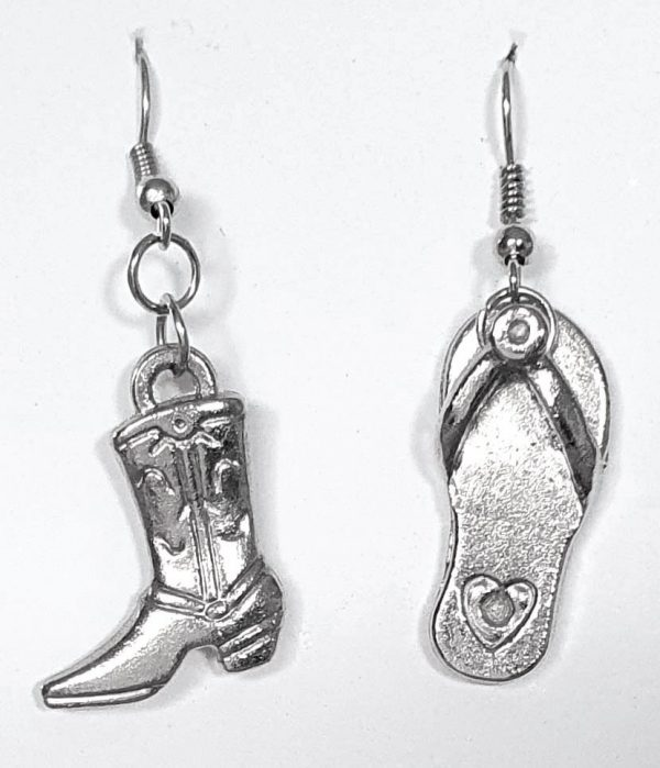 Boot and Thong Earrings