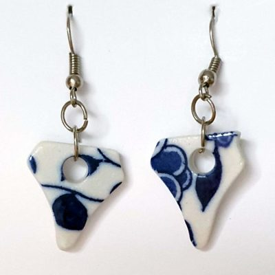Blue on White Porcelain earrings