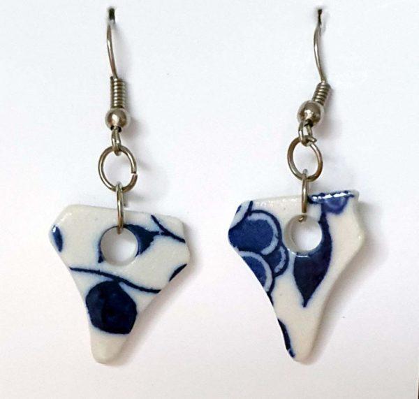 Blue on White Porcelain earrings