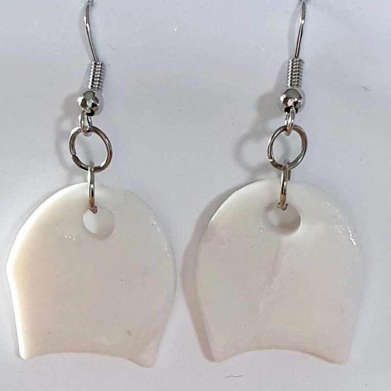 White Porcelain Drop Earrings
