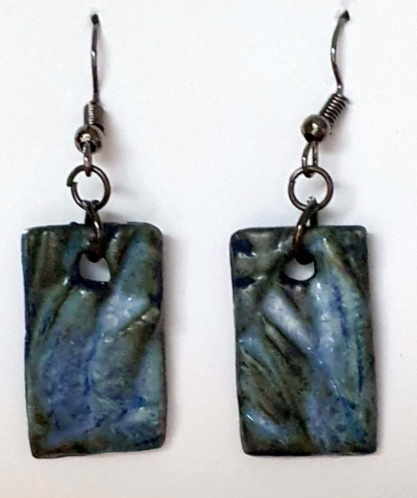 Pressed Bluestone Earrings