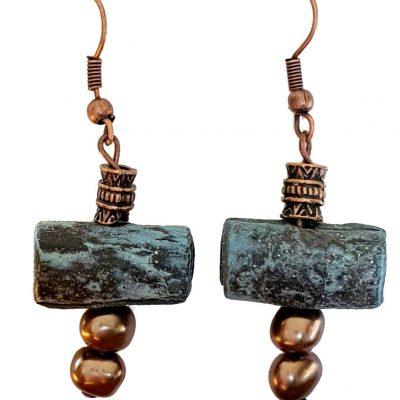 Multi Copper Earrings