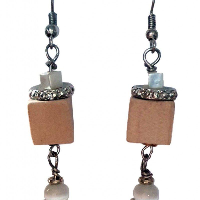 Wood Drops Earrings