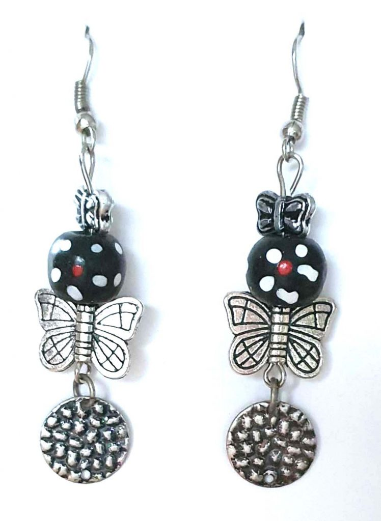 4 x 1.5 Butterflies and Beads