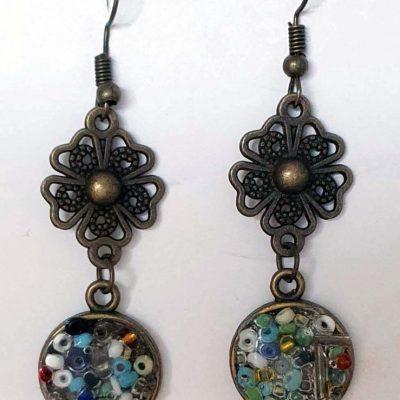 Carnival Seed Bead Earrings