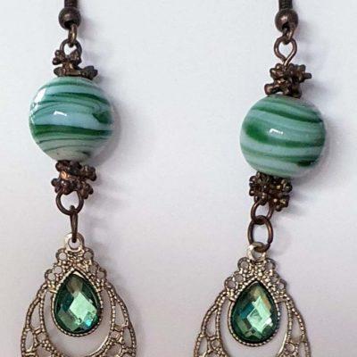 Green Swirl Earrings