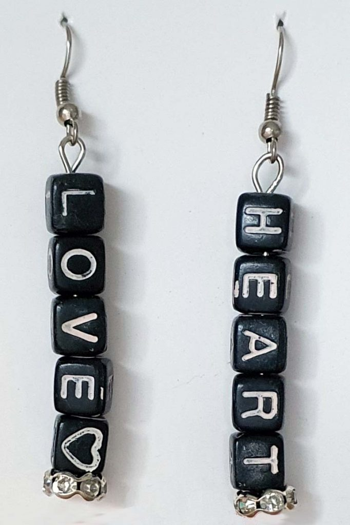 Love Heart Letter Earrings
