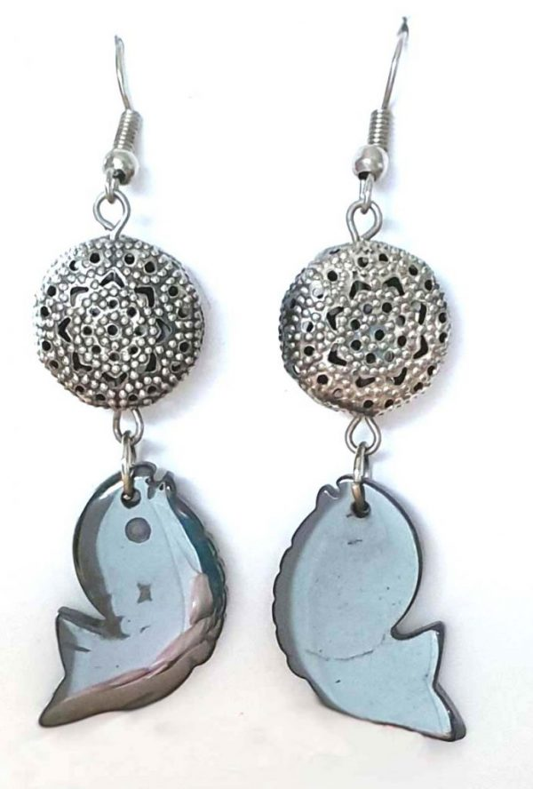 4.5 x 1.5 Friendly Fish Earrings