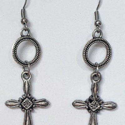 Crosses and Rings Earrings