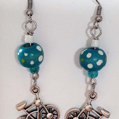 Bicycles & Balls Earrings