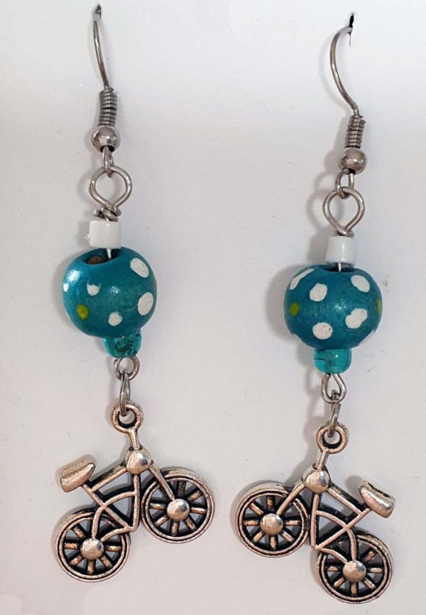 Bicycles & Balls Earrings