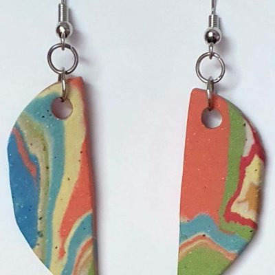 Rainbow Moon Earrings