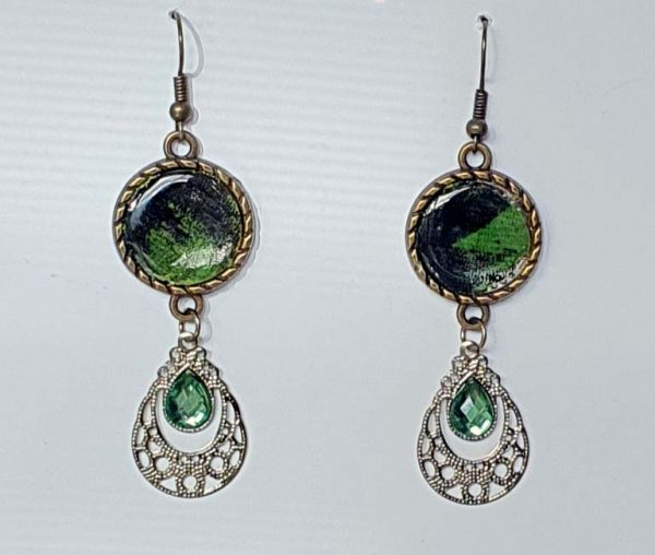 Regal Green Earrings