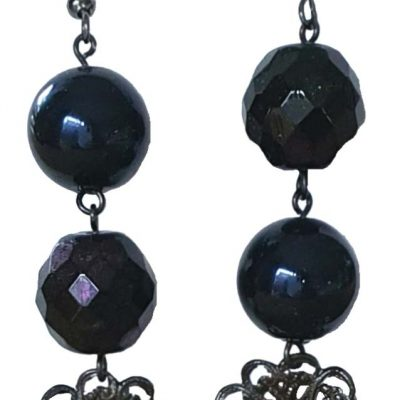 Beads and Lace Earrings