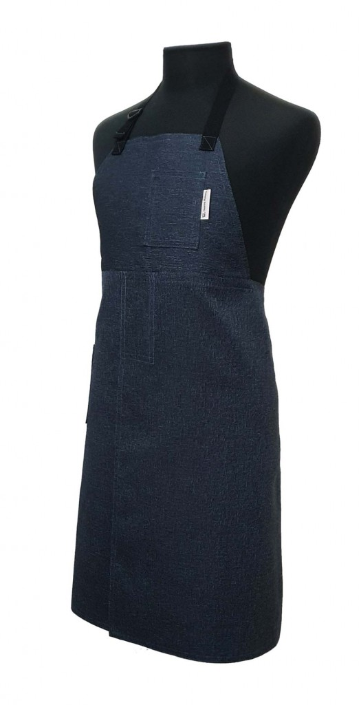 Pottery Split-Leg Apron - Midnight Blue Speckle