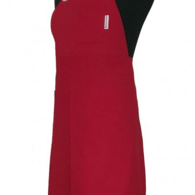 Pottery Split-Leg Apron - Cherry Pink