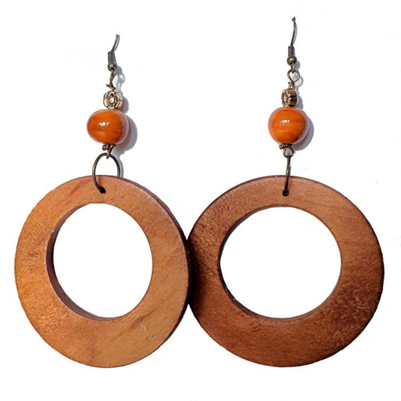 Wooden Rings Earrings