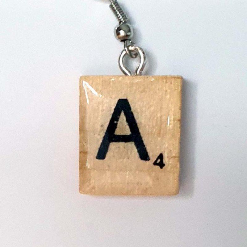 Scrabble Letter Earring x 1 - A