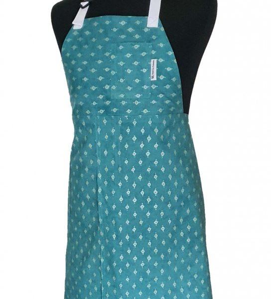 Emerald Night Split-Leg Pottery apron - Deanna Roberts Studio (3)